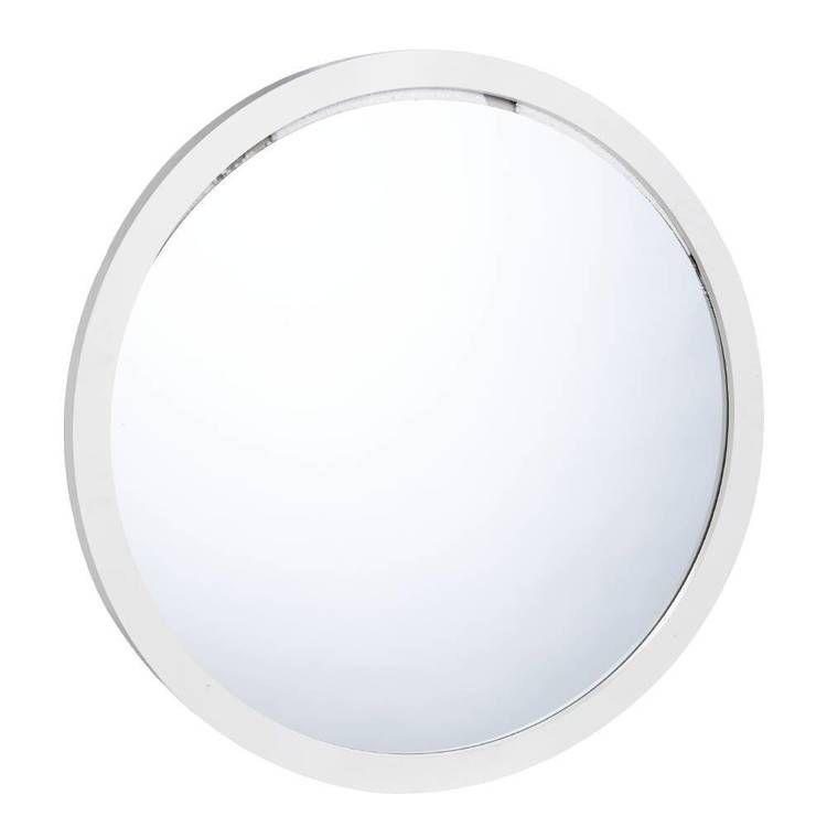 Frame depot round mirror white from spotlight mirror