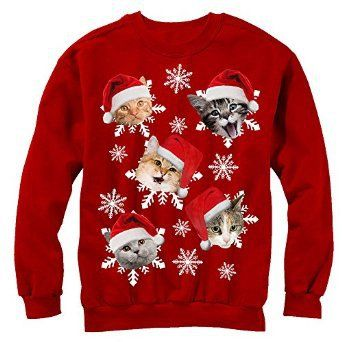 Santa Claws Cat Ugly Christmas Sweater Toddler//Kids Sweatshirts