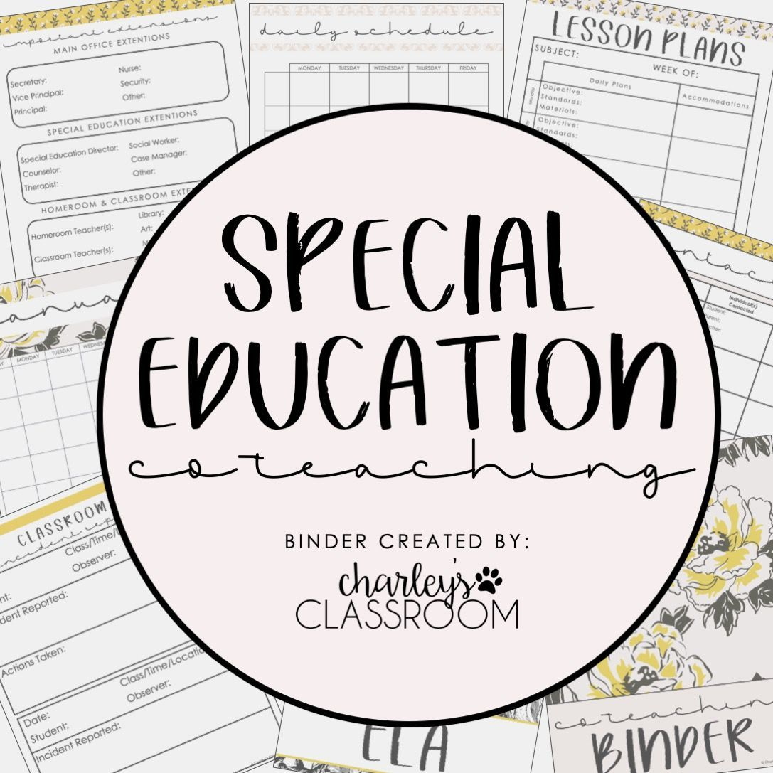 Inclusion Teacher Binder (Pretty & Simple)