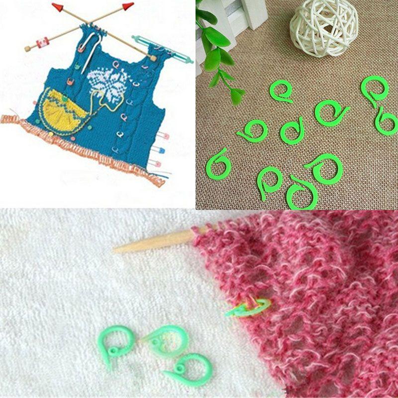 CRAFT-KNITTING//CROCHET 20 x Assorted Plastic Locking Stitch Markers