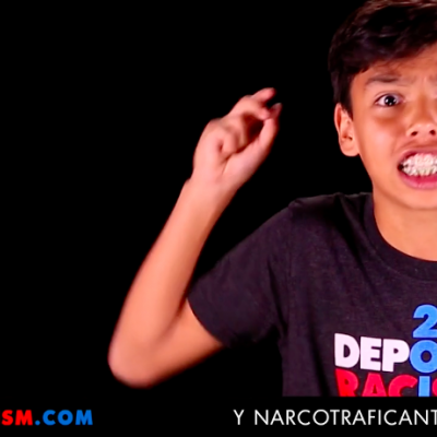 "Since leftists live to strip little children of their innocence, amnesty activists from Deportracism.com have now released a video featuring a Latino boy and girl yelling profanities at Republican frontrunner Donald Trump, calling him a ""racist fuck"" and a ""dick."" At one point in the video, a boy raises his middle-finger while holding a sign that reads ""Deport this."""