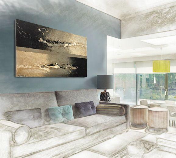 Daily Inspiration ; ) Handgemalt auf Leinwand, gespannt auf - wandbild für wohnzimmer
