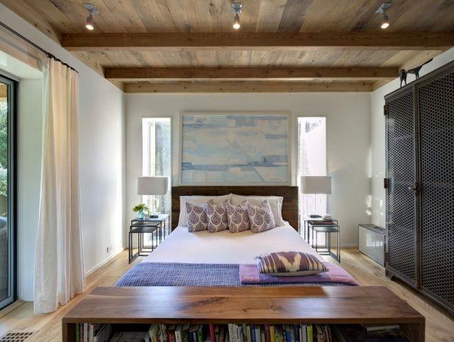 ideen schlafzimmer gestaltung grau weiß wandgestaltung fotomotive, Schlafzimmer ideen