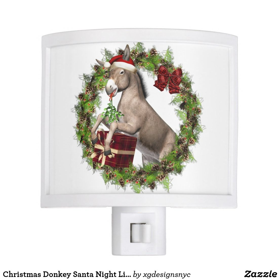 Christmas Donkey Santa Night Light in 2018 | Italian Christmas ...