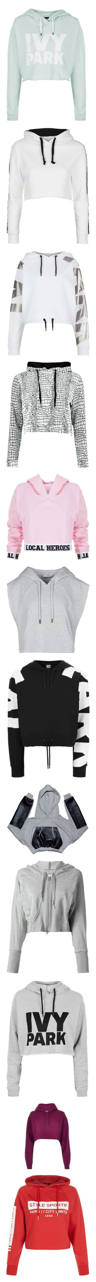 """cropped hoodies"" by lulucosby ❤ liked on Polyvore featuring tops, hoodies, sweaters, crop top, sweats, mint, white crop tops, sport hoodie, hooded sweatshirt and cropped hooded sweatshirt"