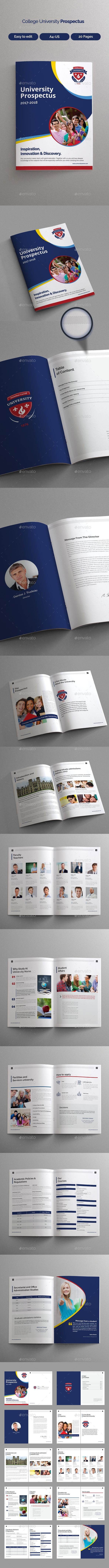 College University Prospectus  Brochures Brochure Template And