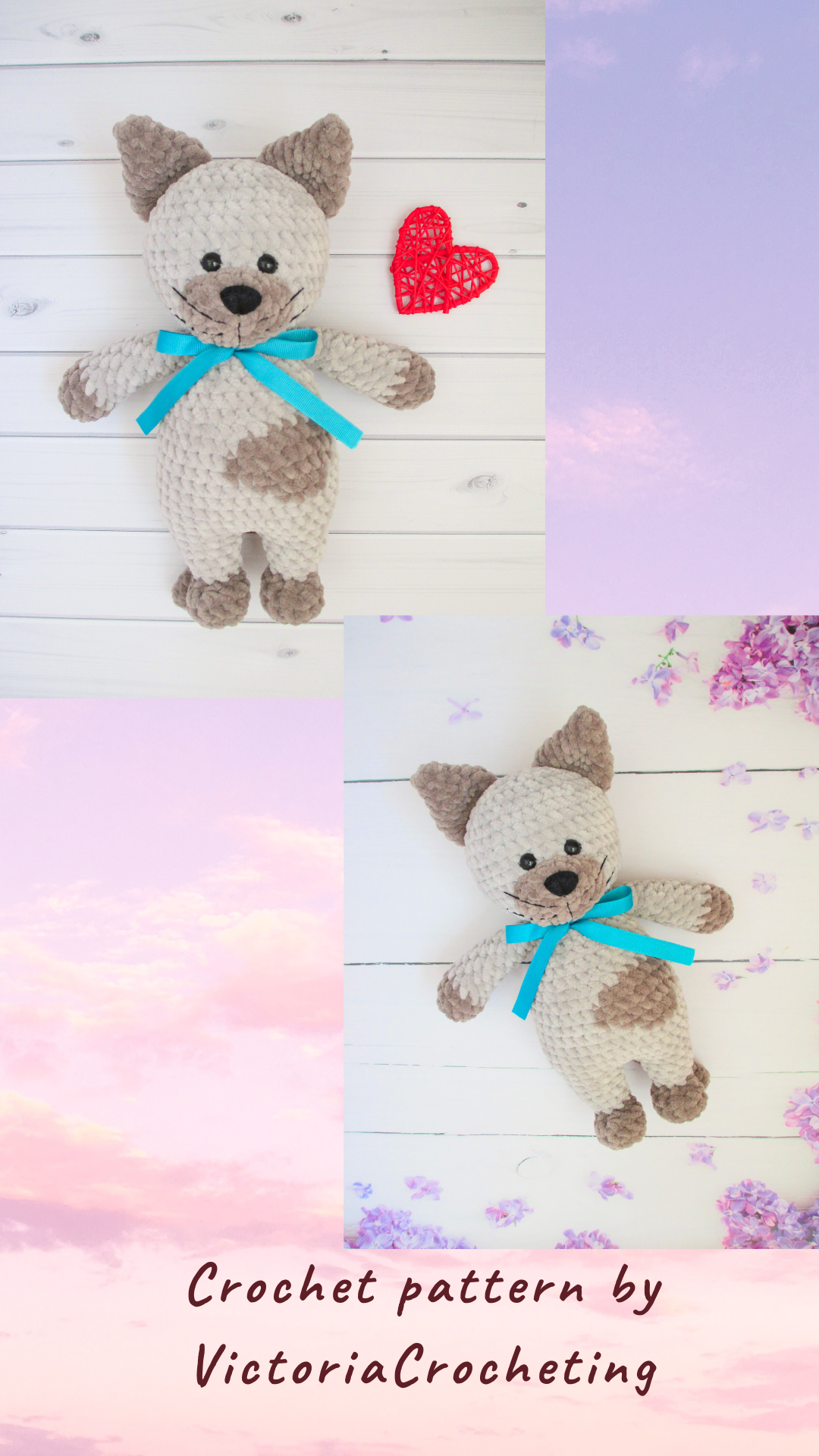 CROCHET Pattern Cat, Amigurumi pattern, mothers da