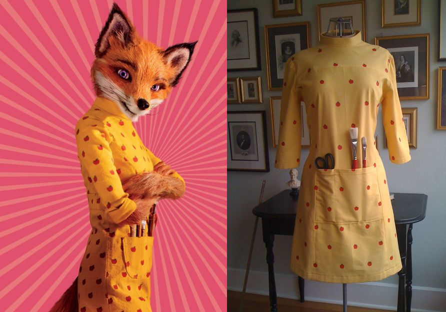If You Liked Fantastic Mr Fox Which I Did A Lot I M Pretty Sure You Also Liked A Dress Of Felicity Fantastic Mr Fox Costume Fox Costume Diy Fox Costume
