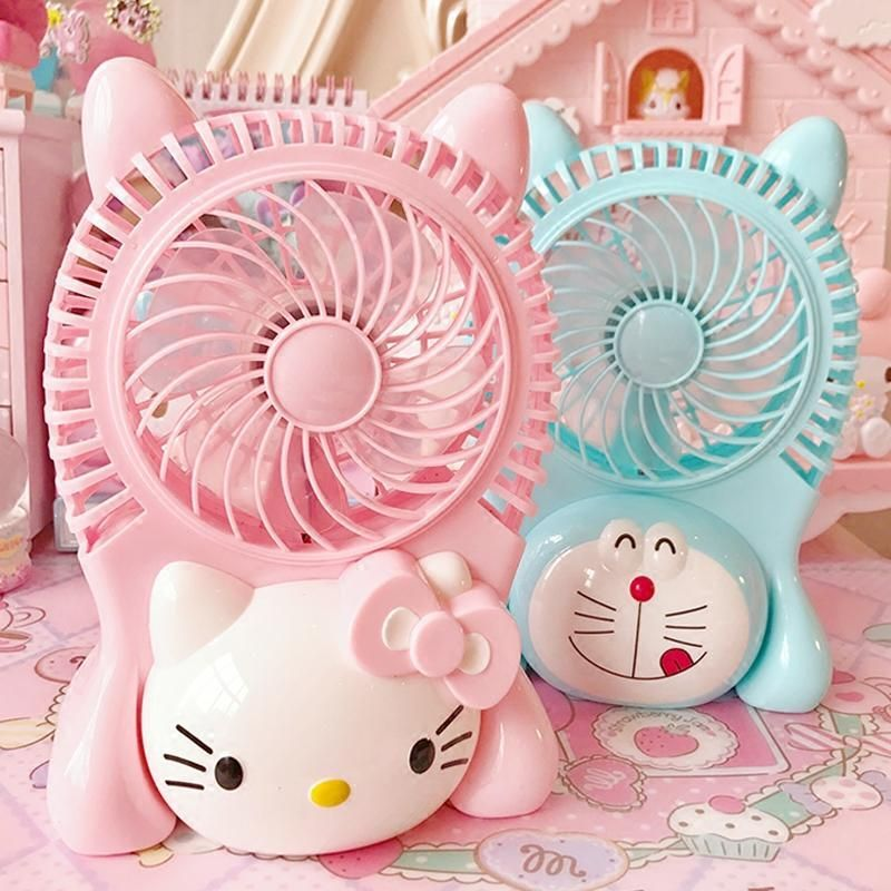 Pink/sky Blue Cat USB Charging Mini Fan SE10560 Coupon