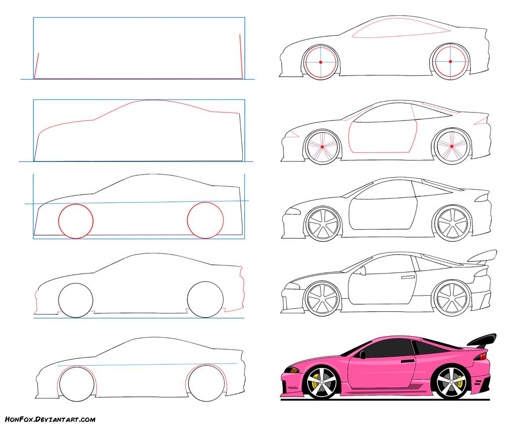 How To Draw Sport Car By HonFox.deviantart.com On