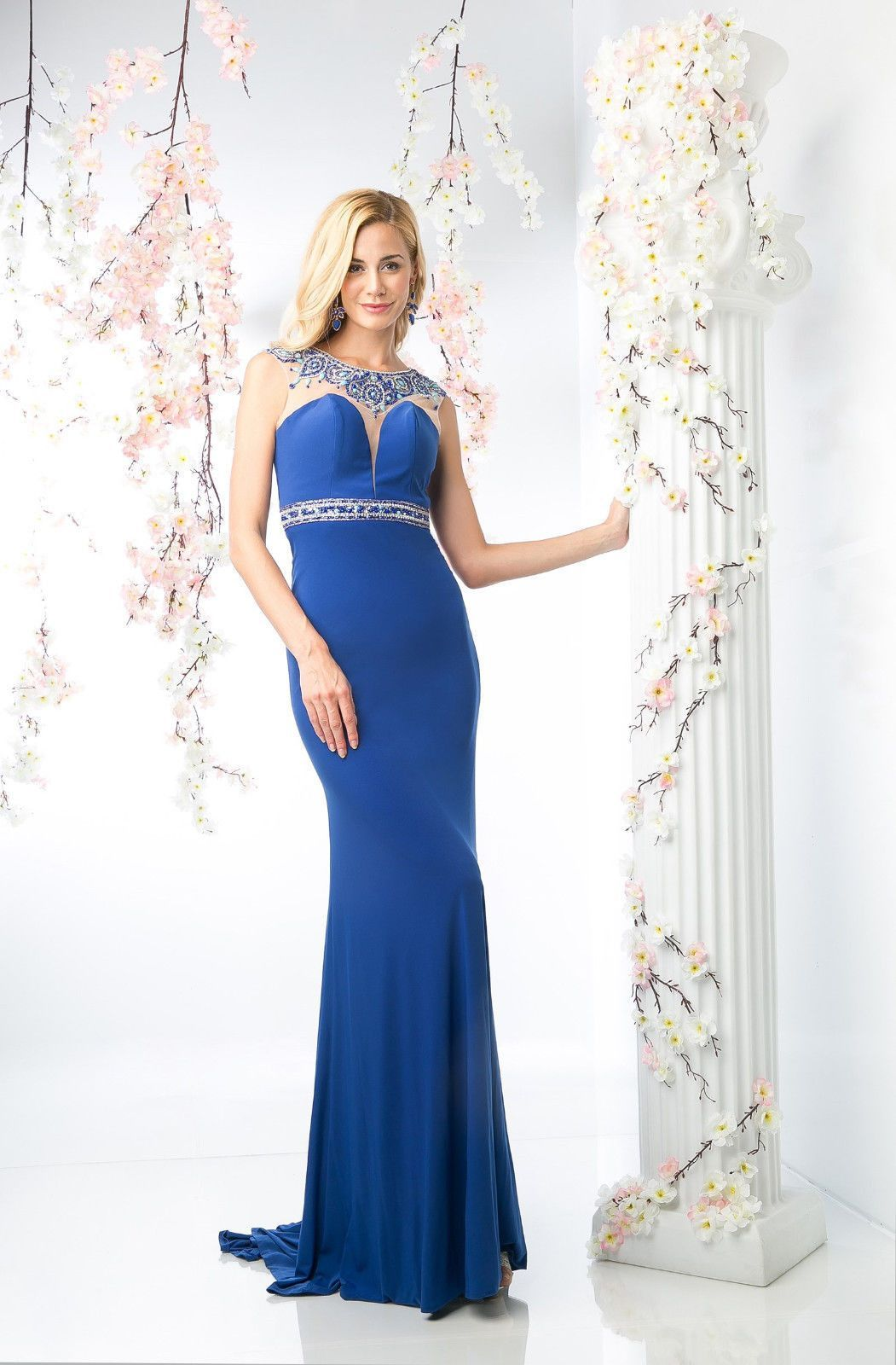 Long sleeveless evening cut out back formal prom dress products