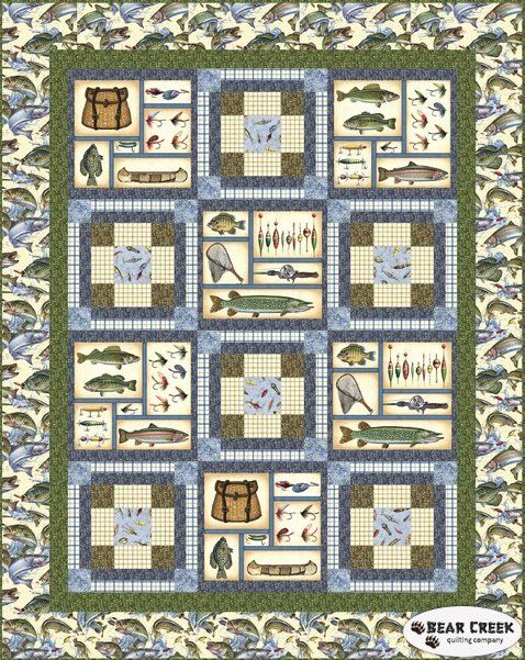 Reel It In Free Quilt Pattern by Quilting Treasures | Quilts ... : quilting treasures patterns - Adamdwight.com