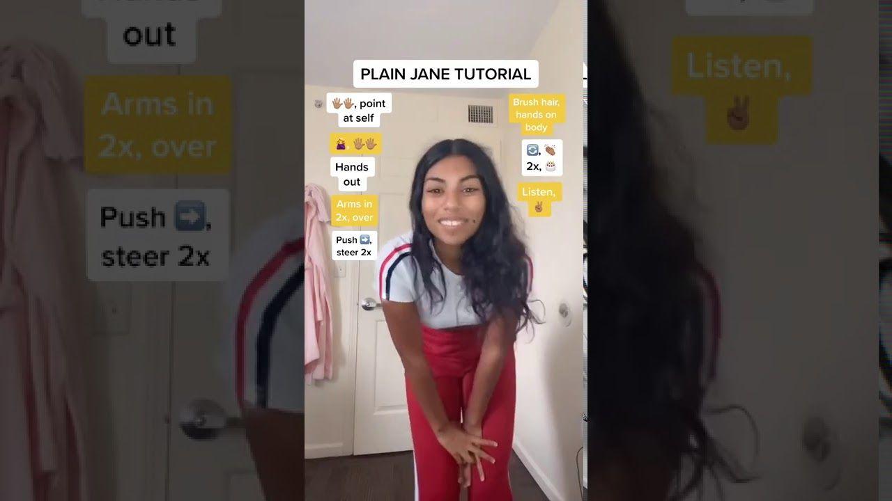 Plain Jane Tiktok Dance Tutorial Youtube Tutorial Plain Jane