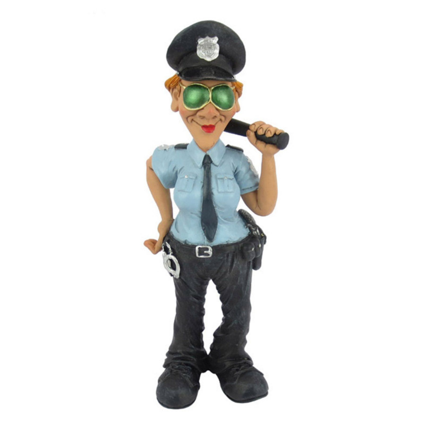 HiLine Gift Ltd. Occupations Police Woman Figurine by