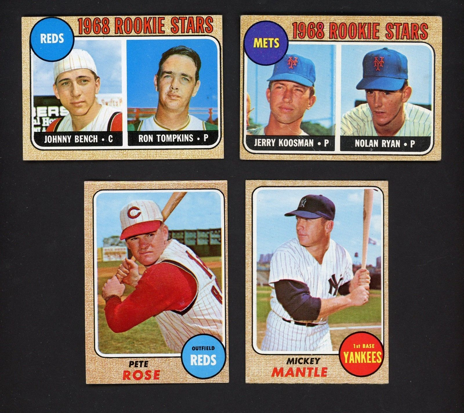 1968 Topps Baseball Complete Set 594 W Ryan Rose Clemente