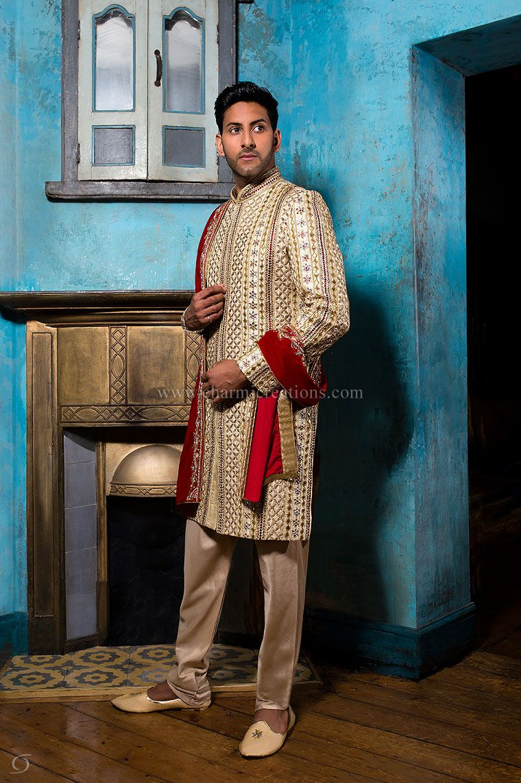 Mens Sherwani Suits Wedding Dresses for Men, Asian Groom Suits ...