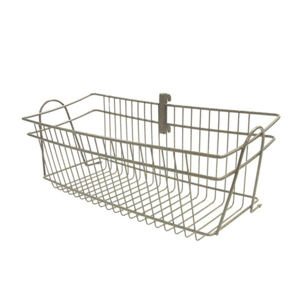 ClosetMaid ShelfTrack 8 In. H X 20 In. D Nickel Wire Basket