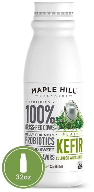 Maple Hill Creamery 100 Grass Fed Plain Kefir The Cleaner Kefir No Added Anything Except Lots Of Love Yogurt Packaging Kefir Juice Packaging