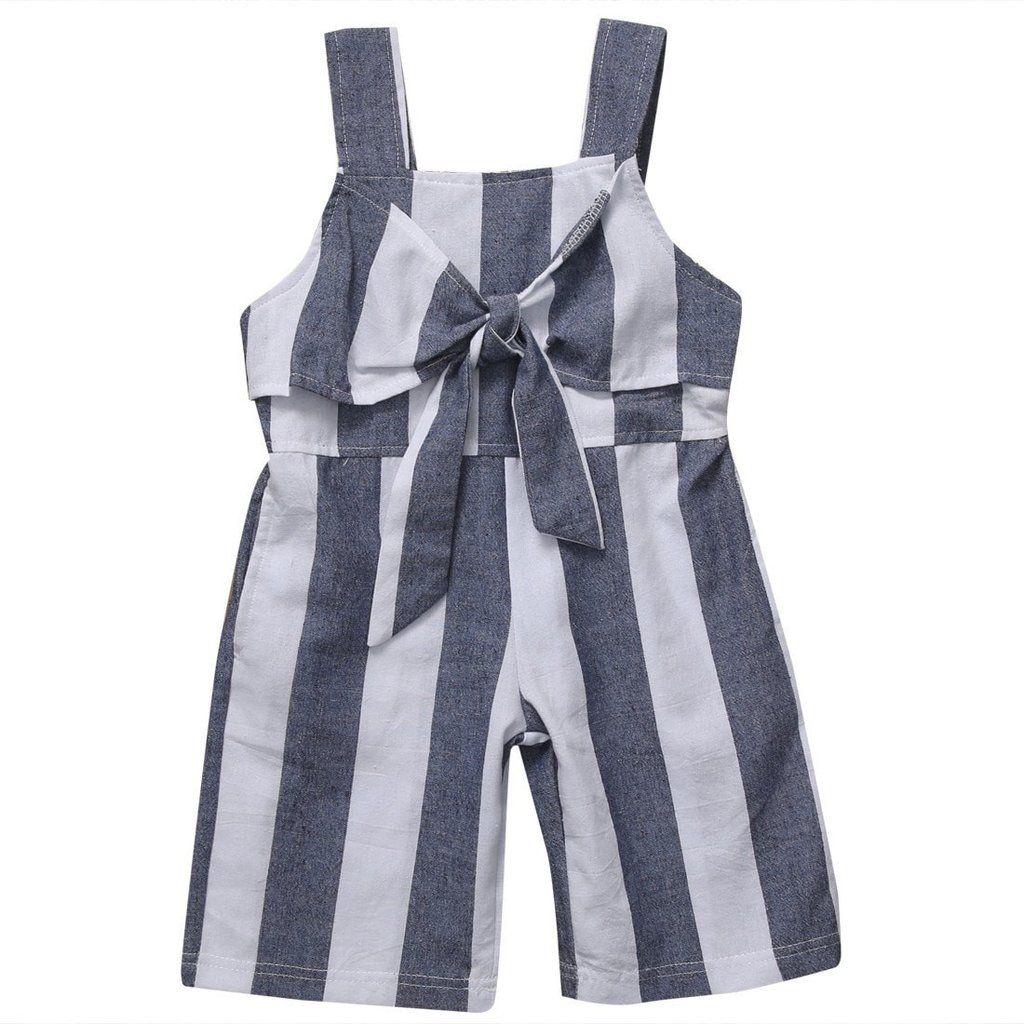 Summer Striped Jumpsuit - Tiny Cupids