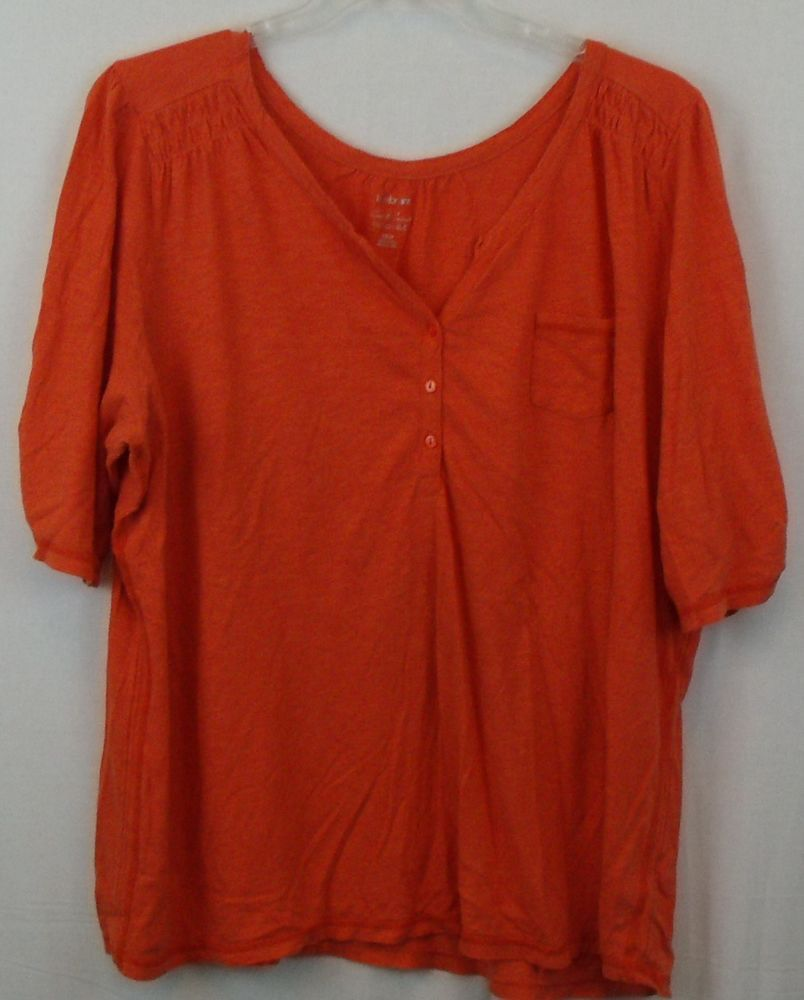 Coral Plus Size Casual Top, Size 22/24 by Lane Bryant #LaneBryant #Blouse