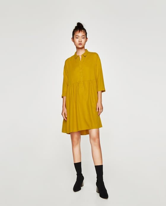 f46036ac Image 1 of RUFFLED SHIRT DRESS from Zara | R | Mini shirt dress ...
