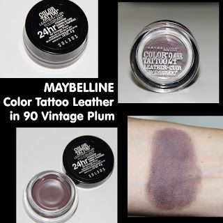 MichelaIsMyName: MAYBELLINE Color Tattoo Leather in 90 Vintage Plum...