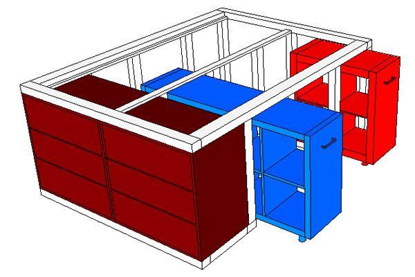 Hochbett selber bauen ikea  IKEA-Hack: Aus dem Kallax Regal und der Malm Kommode wird ein Bett ...