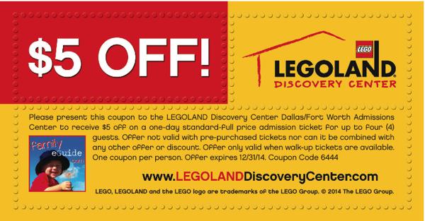 Legoland Coupon Grapevine Dfw Legoland Coupons Price Tickets