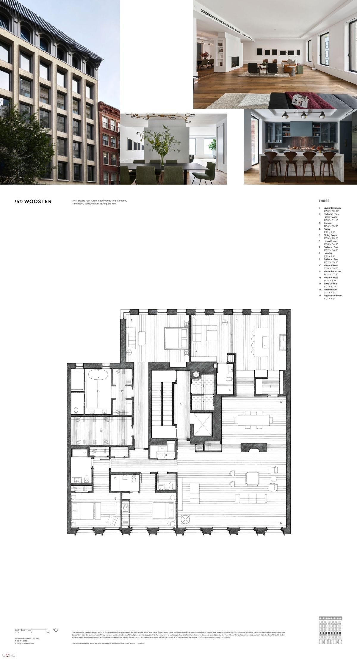 150 Wooster St Loft 3 New York Ny 10012 Core Real Estate Home Building Design Apartment Floor Plans Apartment Architecture