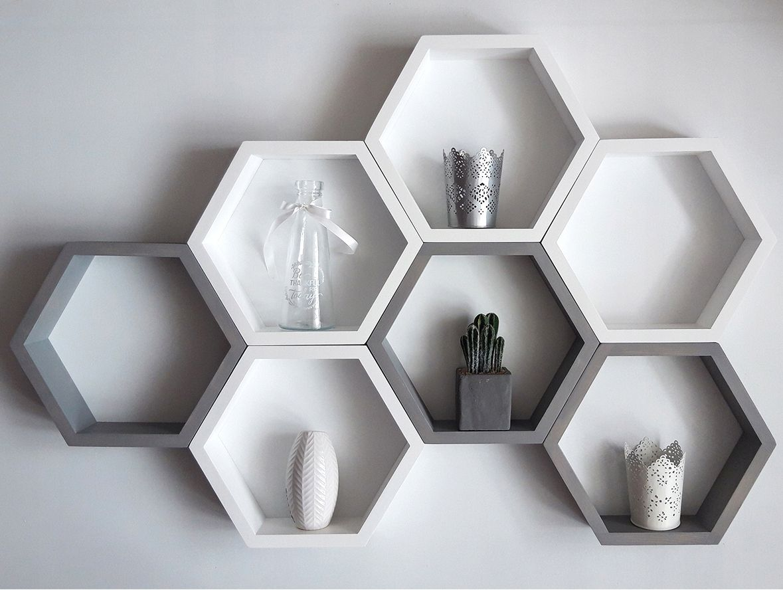 Polki Modulowe Heksagony Plastry Miodu 7 Szt 8148675990 Allegro Pl Kids Room Wall Decor Wall Decor Bedroom Tv Wall Decor