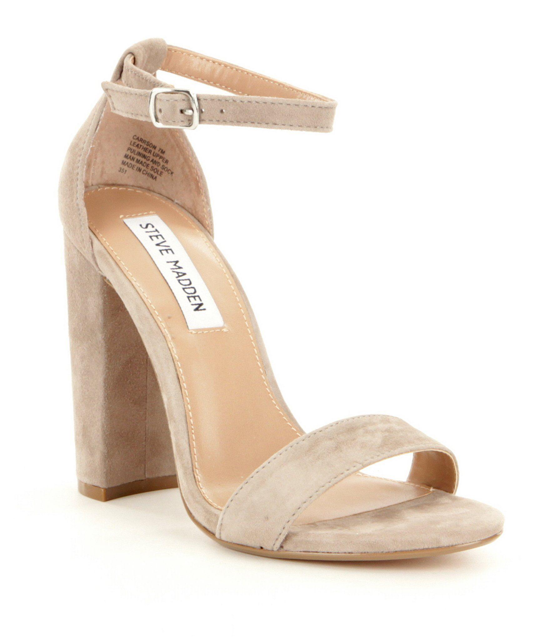 404d9e4377f1c Steve Madden Carrson Suede Ankle Strap Block Heel Dress Sandals  Dillards