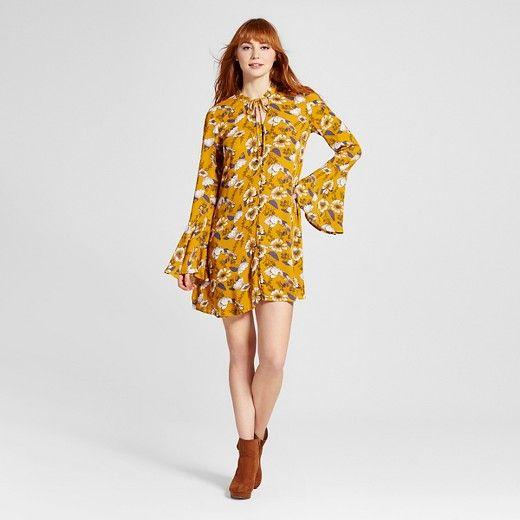 pwomen s bell sleeve shift dress
