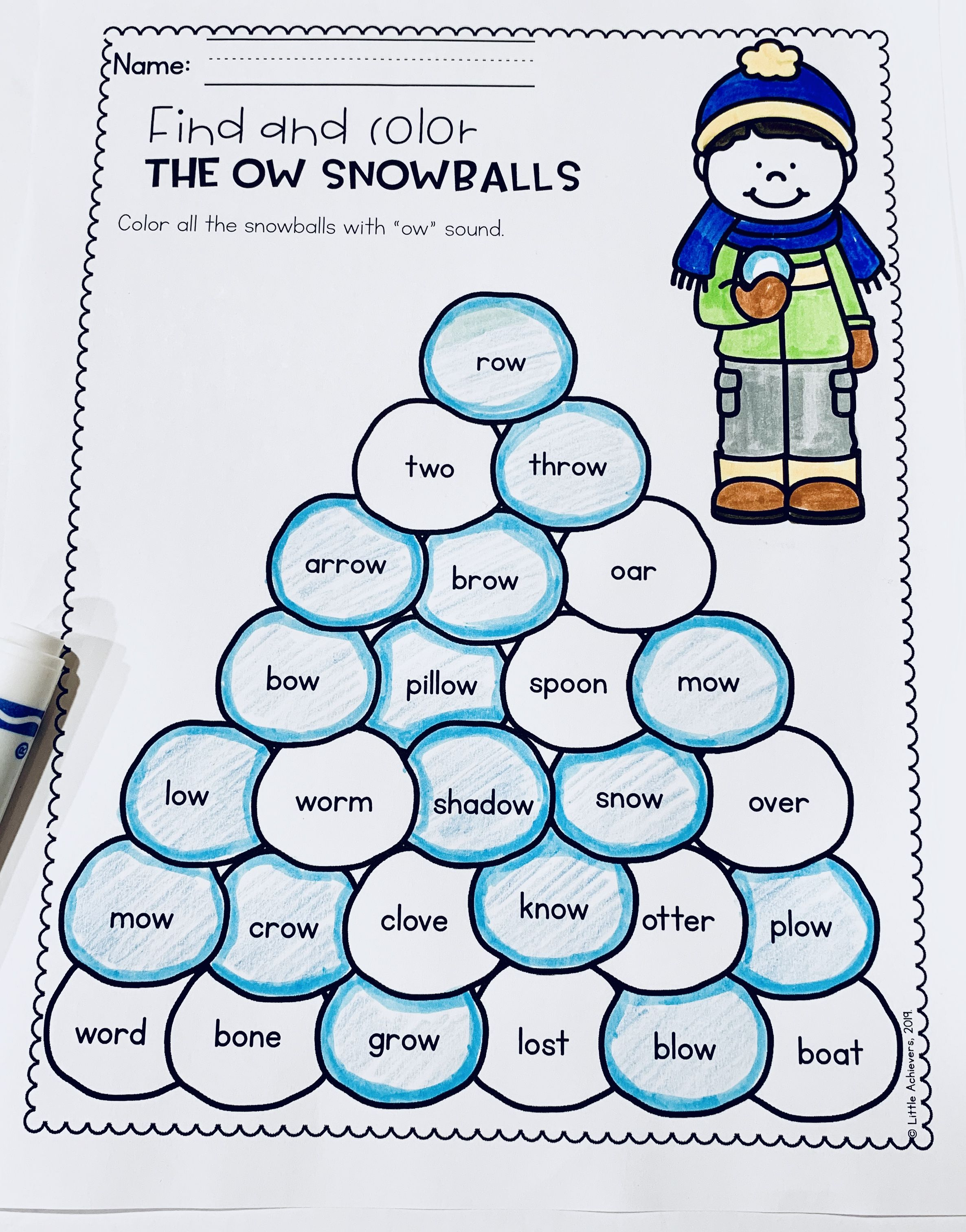 Vowel Teams Worksheets