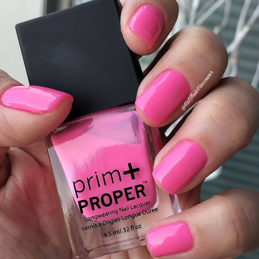 A New Favorite Neon Pink Found This 7 Free Nail Polish Exclusively At Londondrugs Prim Proper Ladylikefuschia Prim Pr Pink Nails Free Nail Polish Manicure
