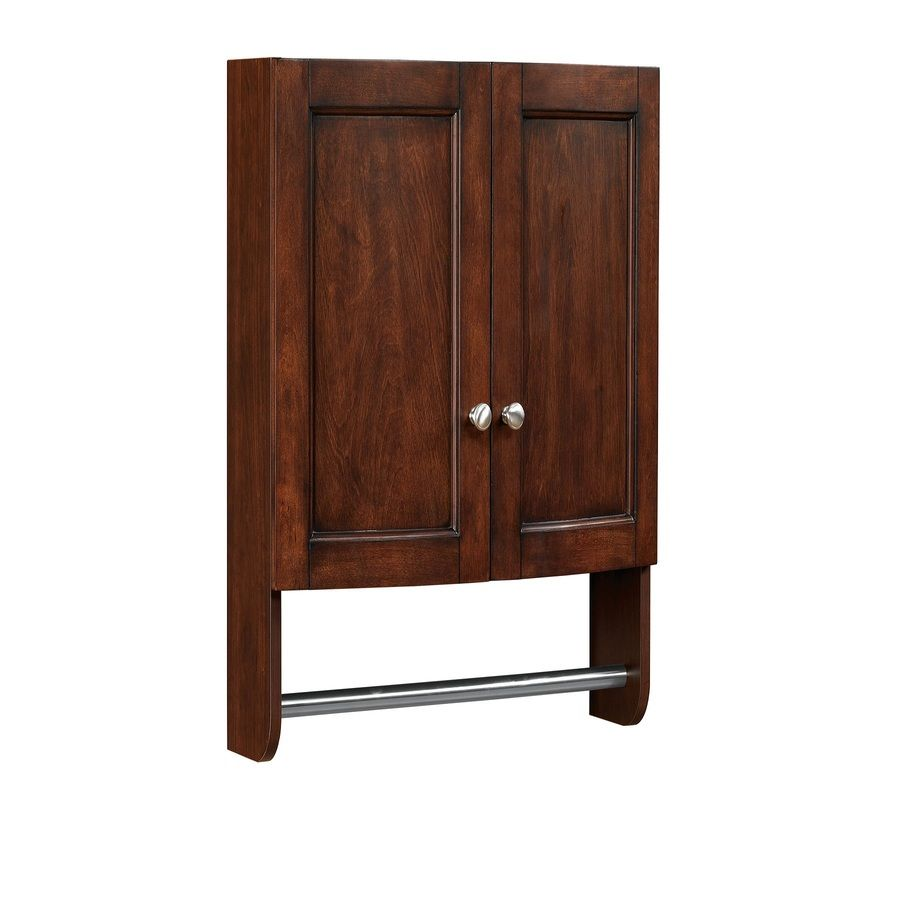 Interior Lowes Cabinets Bathroom shop allen roth moravia 22 in w x 25 h 8 12 d sable bathroom wall cabinetsstorage