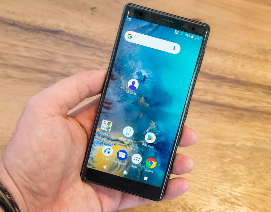 Detect phones Sony Xperia XZ2 with a new design dialogue