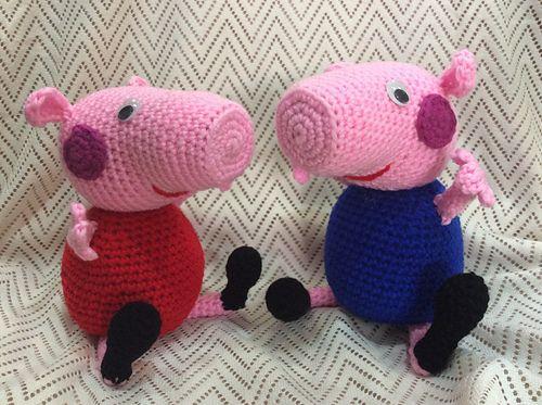 Pepa pig en pijama - Lluvia de amigurumis | Facebook | 373x500