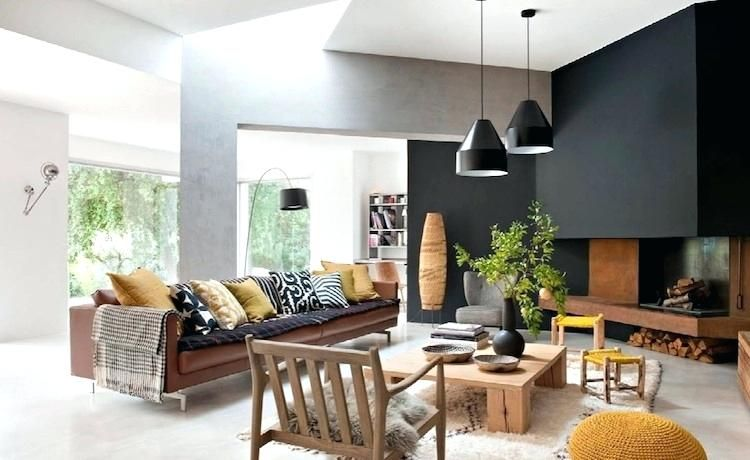 Deco jaune et marron deco jaune curry appartement moderne peinture