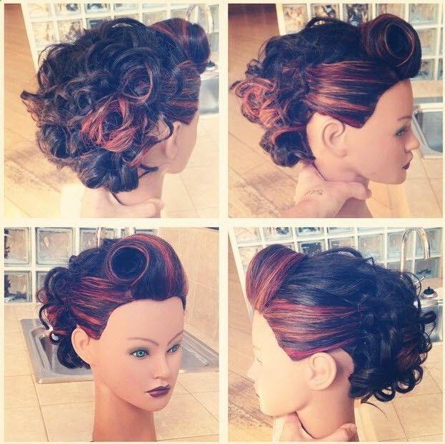 Rockabilly Updo Updo Empirebeautyschool Rockabilly Retro Hairstyles Vintage Hairstyles Rockabilly Updo