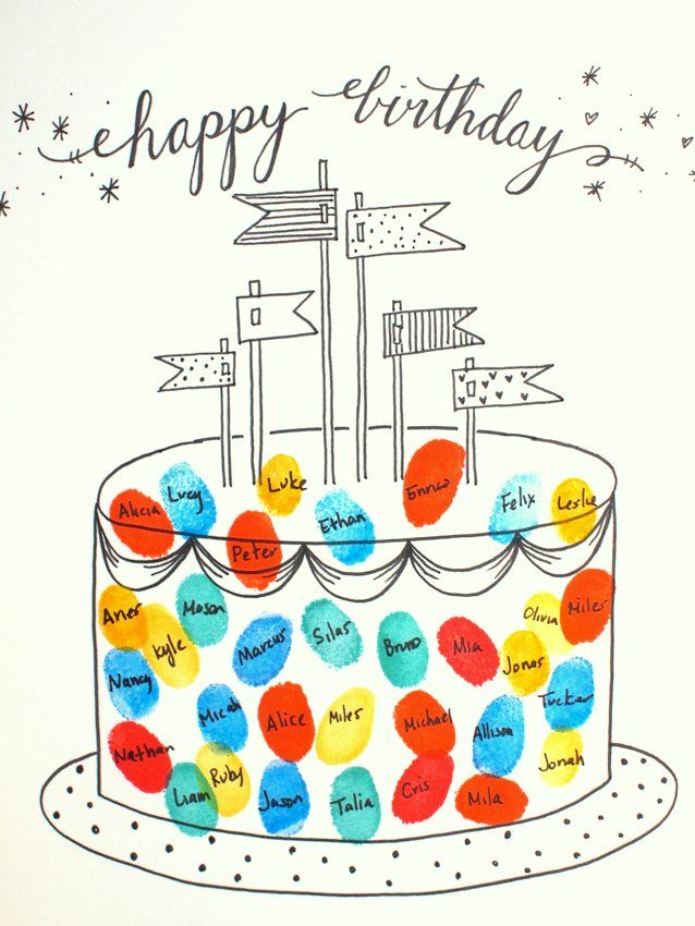 Free Printable Fingerprint Birthday Cards Free printable - free birthday card printable templates