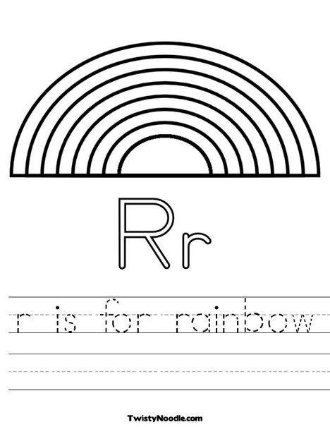 R Is For Rainbow Worksheet Preschool Worksheets Kindergarten Worksheets Color Worksheets Free printable worksheets for r