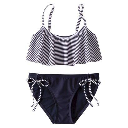 d5be6f28a8d96 Xhilaration® Juniors 2-Piece Swimsuit -Stripe Print | Swim wear ...