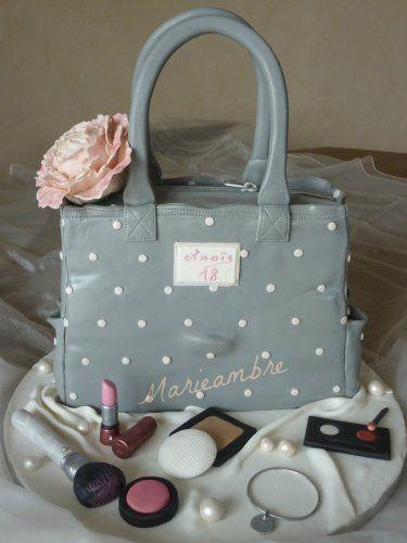 Gâteau sac à main et maquillage purse cake and makeup