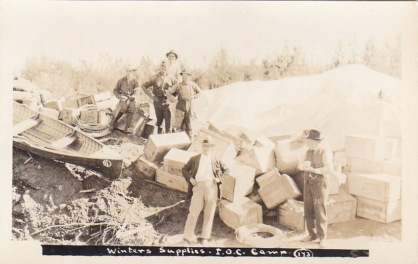 RP: Winter Supplies , I.O.C. Camp , FORT NORMAN , NWT , Canada, 1910s