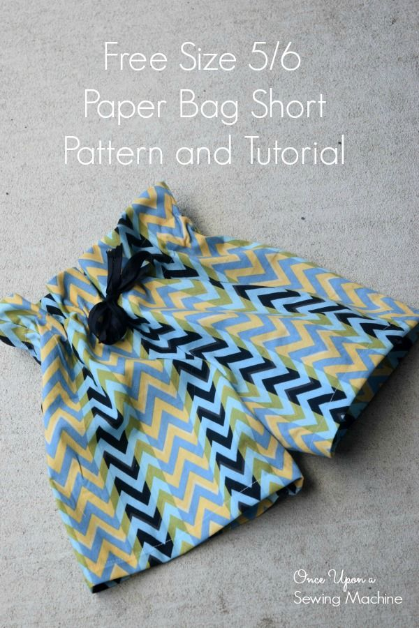 Paper Bag Shorts PDF Pattern and Tutorial : Free Size 5/6 ...