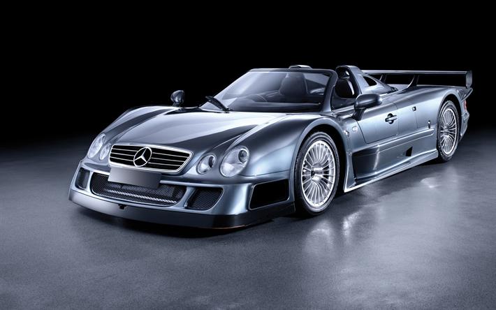 Download Wallpapers Mercedes Benz Clk Gtr Roadster Amg
