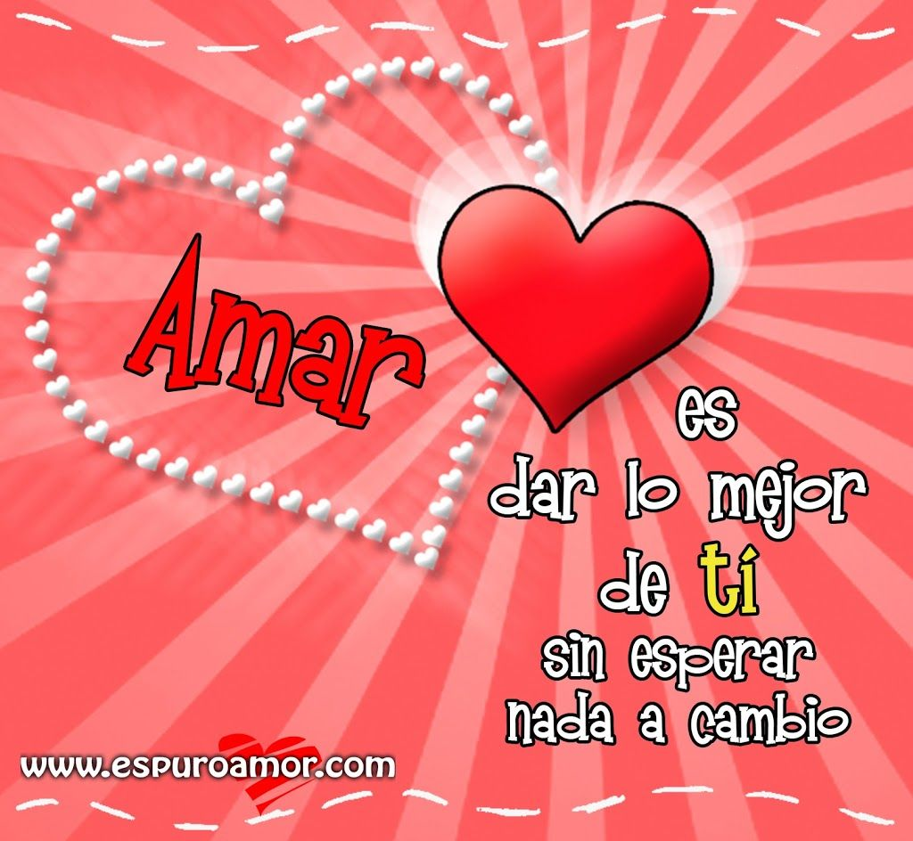 Tarjeta de coraz³n rojo con fondo rosa y frase de amor para