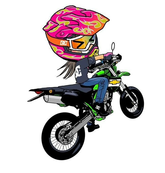 Pin De Hoda Hosny Em Biking Desenho Moto Garotas De Moto Motocross