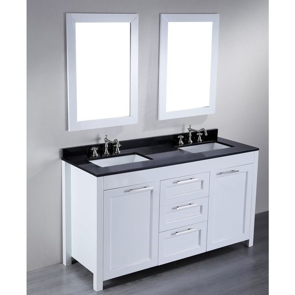 $1450 60-inch Bosconi SB-267 Contemporary Double Vanity Things to