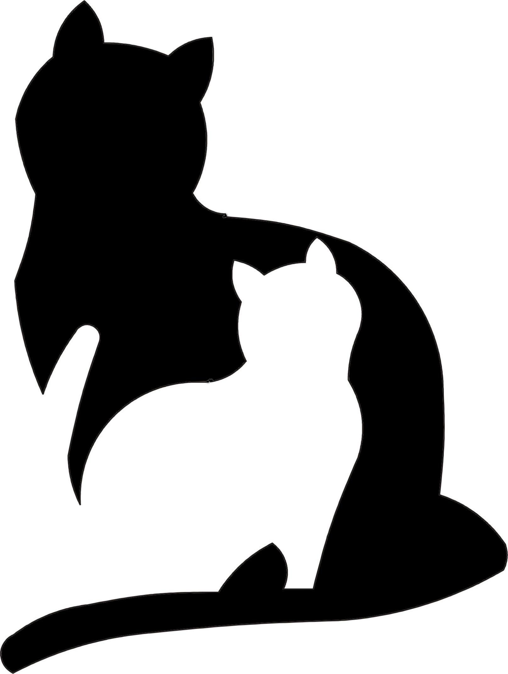 Stancil Schablone 2 Katzen … | Pinteres…